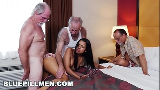 Blue pill males - 3 old guys and a latin housewife named nikki kay