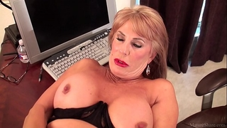 Slutty older golden-haired rae hart prefers posing and playing with her sissy