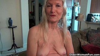 Grandma claire's old bawdy cleft needs some attention