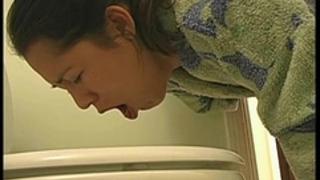 Overeating slutty wife puke vomit puking vomiting gagging