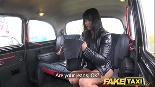 Fake taxi saucy sexy dark brown loves czech schlong