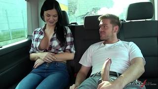 Ryan ryder convince juvenile innocet enjoyable jasmine jae to fuck in driving van