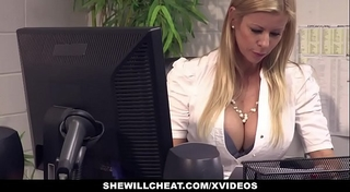 Shewillcheat - breasty milf boss copulates fresh employee