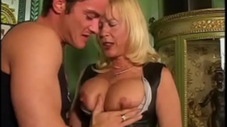 Amazing milf with large scoops sucked and slammed!