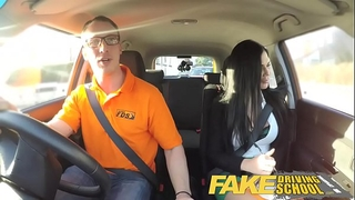 Fake driving school male learner fucking his female driving examiner