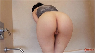 Finger group-fucked arse in shower