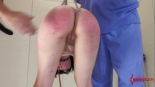 Young alt horny white wife is fucked right into an asshole, then has chocolate hole waxed shut