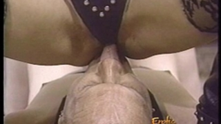 Naughty female-dominator has her fur pie and her feet licked with fervor