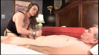 Muscle female-dom brandimae teaches immodest old dude lesson #2