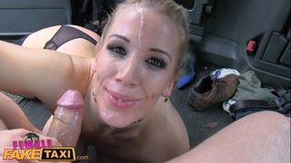 Female fake taxi 3 thrilling sessions and cumshots in the back