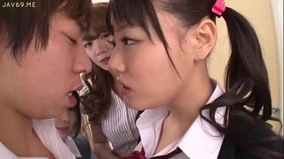 Asian schoolgirls tempt classmate - greater quantity episodes at hotasianonline.com