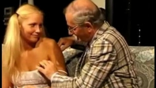 Teeny drilled by lustful old man