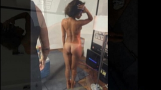 Rihanna stripped and topless ideal body