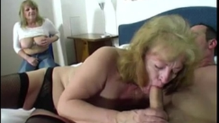 Two granny one penis