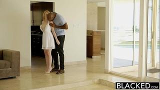 Blacked blond babysitter trillium copulates her dark boss