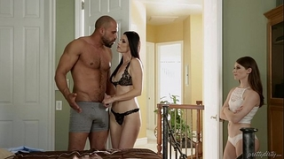 Teen share her foster dad's ramrod with her step mommy - india summer & alice march