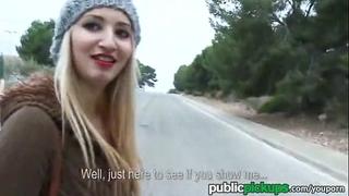Mofos hawt euro white bitch receives pounded outside