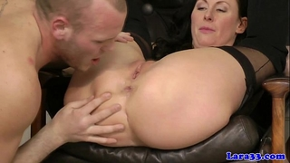 Glamcore british milf bitch eager on cock