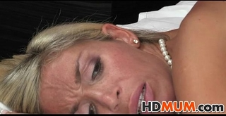 Stunning blond mum sex