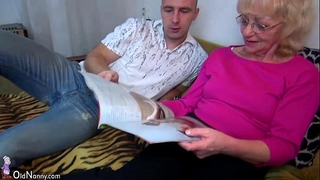 Oldnanny old granny is very very sexually excited and moist