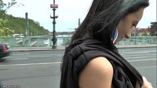 Slim legal age teenager martina shows her hawt body in public