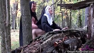 Smoking nun screwed by devil