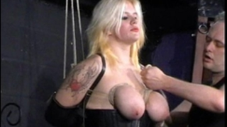 Busty blond cherrys breast slavery and non-professional sadomasochism of tit tortured unrepining