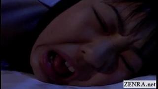 Subtitled uncensored nocturnal japan schoolgirl rimjob