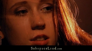 Redhead virginal sex serf hard punished by her dominant