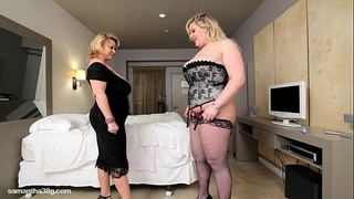 Bbw cougar dildos hawt fat breasty honey in hotel room