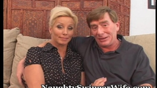 Horny aged pair loves to swing