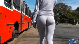 Best legal age teenager cameltoe and gazoo exposure in public! yoga panties!!