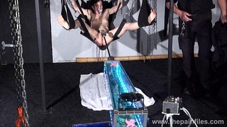 Fucking machine torment of elise graves in hardcore slavery swing submission