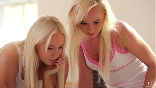 Nubile films - legal age teenager lesbian babes go wet crack diving