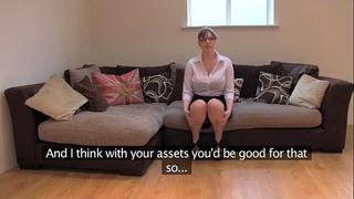 Fakeagentuk non-professional british dirty slut wife with giant bra buddies receives multiple orgasms