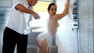 Passion-hd hot whore bathes in sex cream