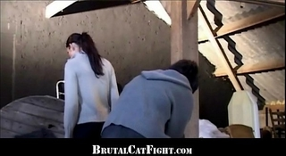 Brunette spanked and screwed for being slothful