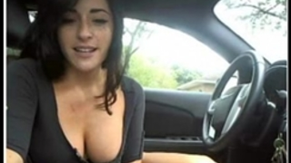 Sexy black cock sluts masturbate and flash in her car on livecam