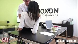 Assfucking my girl in my office