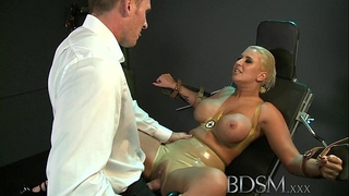 Bdsm xxx large breasted sub has her gap filled by powerful slavemaster taskmaster