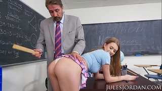 Jules jordan - jill kassidy nasty school white women acquires the d in detention