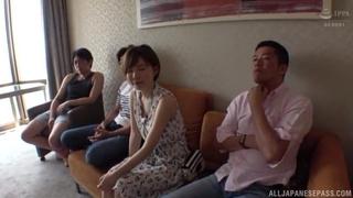 Short-haired Japanese lady enjoys passionate fucking