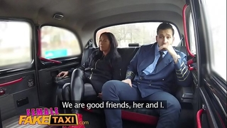 Female fake taxi pilot delivers facial after landing his rod in euro twat