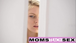 Step mommy and son make legal age teenager squirt in hawt 3some