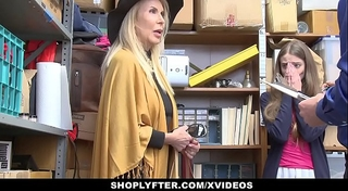 Shoplyfter - granddaughter and grandmother duet fuck lp officer after getting cau