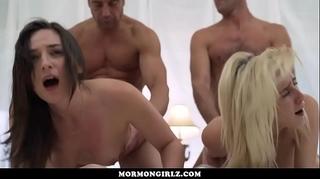Mormongirlz- dirty slut wife sharing in a temple fuckfest