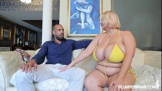 Fat mommy receives drilled by latino man