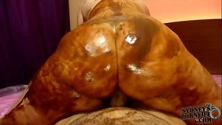 Huge wazoo overspread in chocolate wam sex!