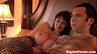 Hugetitted milf fucked right into an asshole and atm deepthroat