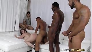 Slut sara jay group-fucked by dark weenies
